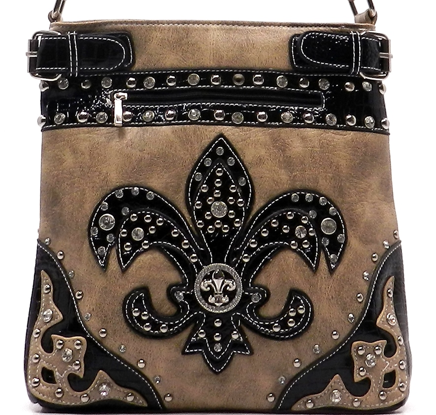 03a7a4fe03d3 Western Style Messenger Bag W/ Fleur de Lis - Cross Body Bags ...