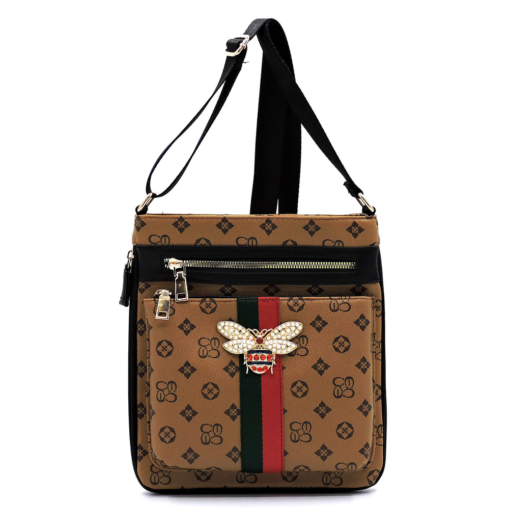 1864b10a2 Queen Bee Canvas Stripe Monogrammed Crossbody Bag. Home · New Arrivals ·  Please upgrade to full version of Magic Zoom Plus™