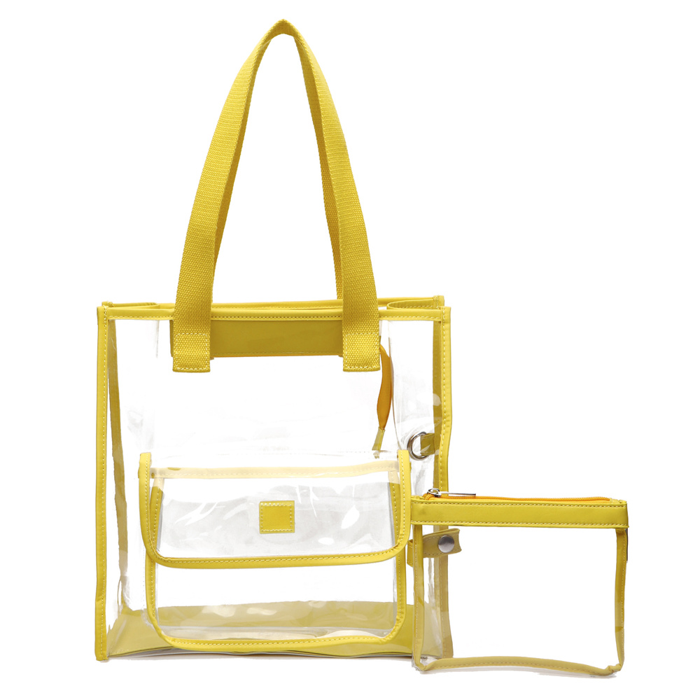 c0dafdc47c0c4e See Thru 2-in-1 Tote Bag - New Arrivals - Onsale Handbag