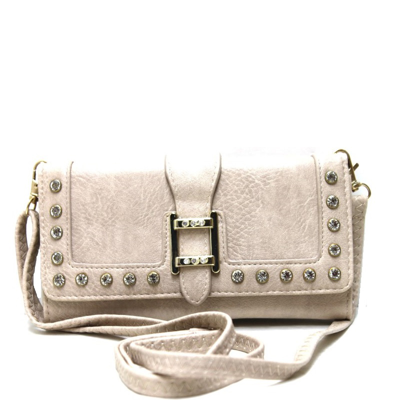 fashion wallet with wristlet and long strap black - new arrivals
