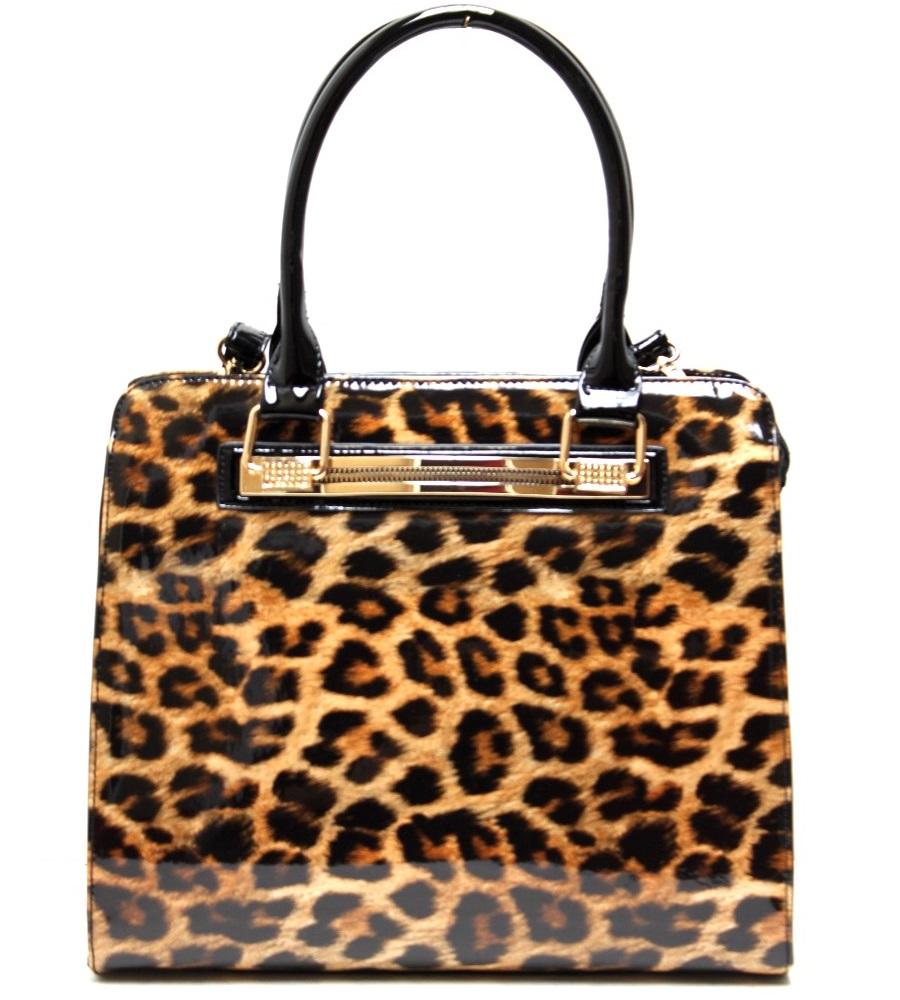fashion handbag with cheetah print - animal print