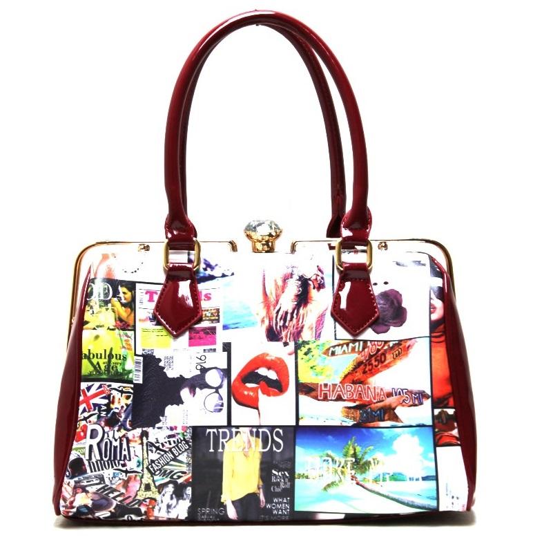 Fashion Magazine Print Handbag Please Upgrade To Full Version Of Magic Zoom Plus