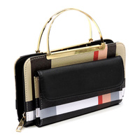 ROUND TOP  HANDLE CROSS BODYBAG & CLUTCH WALLET