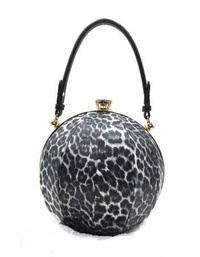 Animal print Stripe Frame Satchel