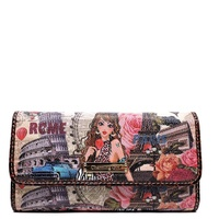 Alba Collection Girl in Paris Printed Wallet