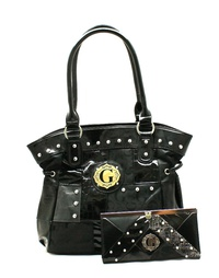 G STYLE HANDBAG WITH WALLET SET