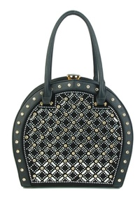 Jewel-top  Rhinestone Frame Embellished Bag