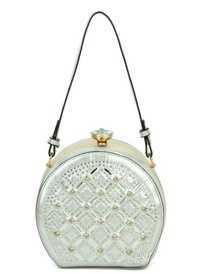 Jewel-top  Rhinestone Embellished Bag