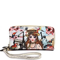 Alba Collection Girl  Printed wallet W/wristlet