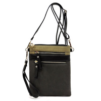 Zip  Crossbody Bag  Colorblock Wristlet
