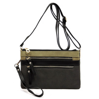 Zip Colorblock Crossbody Clutch Bag Wristlet