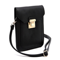 Push Lock Cell Phone Case Crossbody Bag