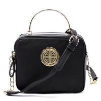 Logo Round Top Handle Box Satchel