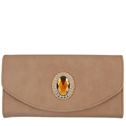 Fashion Wallet With Wristlet Taupe