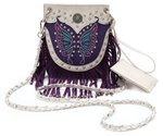 Butterfly With Fringe Messenger Bag