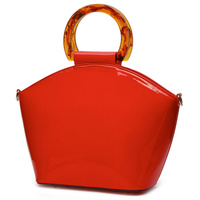 Acrylic Round Top Handle Satchel