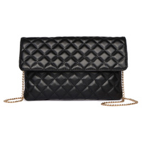 Quilted Fashion Flapover Clutch Crossbody Bag