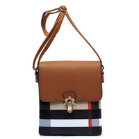 Plaid Check Print Flap Crossbody Bag
