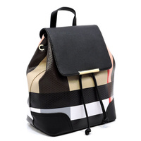 Plaid Check  Backpack