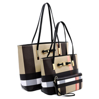 Plaid Check 3-in-1 Bow Tote