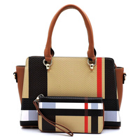 Plaid Check 2-in-1 Satchel