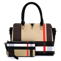 V Accent 2-in-1 Satchel & Wallet Set