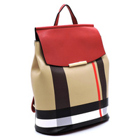 Plaid Check Convertible Backpack