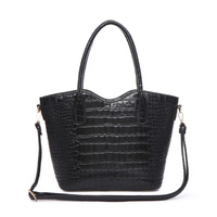Top Handle Crocodile Shopper