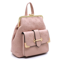 Embossed Monogram Colorblock Convertible Backpack
