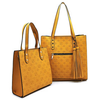 Embossed Monogram 2-in-1 Boxy Shopper