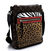 Leopard Zebra Monogram  Crossbody Bag