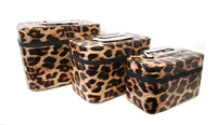 Animal Printed 3-in-1 Cosmetic Case