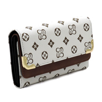 Monogram Tri-fold Clutch Wallet Cell Phone Wallet