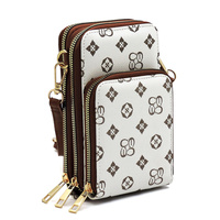 Monogrammed Crossbody Bag Cell Phone Purse