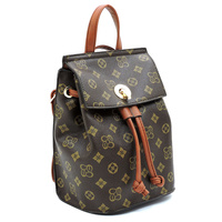 Monogrammed Convertible Drawstring Backpack Satchel