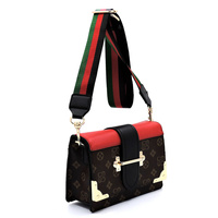 Monogram Colorblock Top Flap Crossbody Satchel
