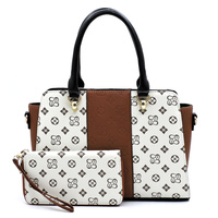 Colorblock Monogrammed Top Handle 2-in-1 Satchel