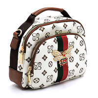 Queen Bee Stripe Satchel