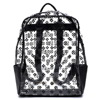 See Thru Monogram Large Backpack