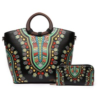 Bohemian Wooden Top Handle 2-in-1 Satchel