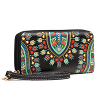 Bohemian Dashiki Zip Around Wallet Wristlet
