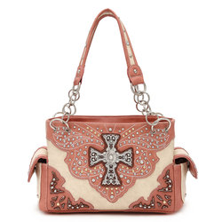 Cross on Butterfly With Stone Deco Western Bag