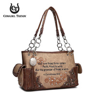 WESTERN BIBLE VERSE SHOULDER BAG