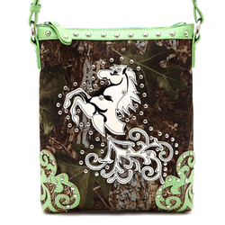 Leaves N Trees Horse Messenger Bag