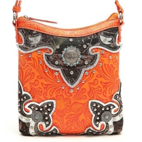 Leaves N Trees W Concho Messenger Bag