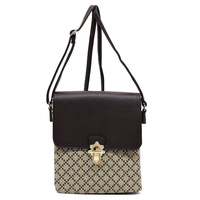 Check Flap Crossbody Bag