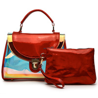 Hologram Push Lock Satchel 2 in 1 Bag