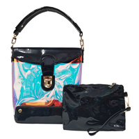 Hologram See Thru 2-in-1 Satchel