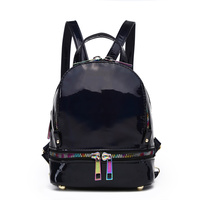 Cute Hologram Backpack with Rainbow Zipper