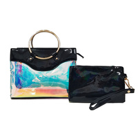 Hologram See Thru Round Top Handle 2-in-1 Satchel